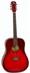 Full Size Acoustic Guitar ABS Hemming Red