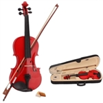 Red 4/4 Acoustic Violin Case Bow and Rosin