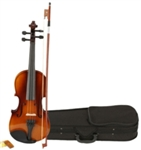 1/2 Natural Color Violin with Case