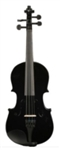 1/2 Black Acoustic Violin with Case Bow Rosin