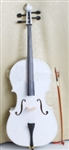 4/4 Full Size White Cello with Bow Rosin and Case
