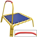 Mini Children Kids Trampoline w/Covered Handle