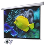 "100"" 4:3 Electric Screen Matte White Projector w/Remote Control"