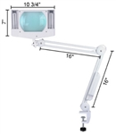Brand New 5x Mag Desk Clamp Swing Arm Magnifying Lamp