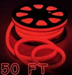 50' Red Led Outdoor/Indoor Flexible Neon Rope Light