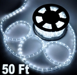 50' Cool White LED Rope Light Outdoor Christmas Home Lighting 110V