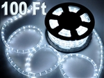 100' Cool White Led Outdoor Rope Light 1/2 Inch Tube 110V
