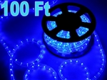 High Quality 100' Blue Indoor/Outdoor LED Rope Light 110V