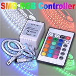 24 Key IR 5050 SMD RGB LED Wireless Controller for Strip Lights DC12V