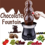 "21"" 3 Tiers 6lb Stainless Steel Chocolate Fountain Fondue"