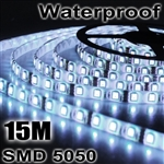 3x 5M 5050 SMD 60 LED Cool White Waterproof Strip Light+Remote Control