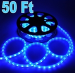 50' Blue LED Rope Light Outdoor Christmas Home Lighting 110V