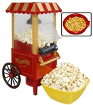 Mini Hot Air Popcorn Maker Popper Home Movie Carnival Tabletop Machine