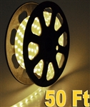 High Quality 50' Flexible Warm White Led Rope Light 1/2 Inch Tube 120V