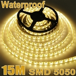 3x 5M 5050 SMD 60 LED Warm White Waterproof Strip Light+Remote Control
