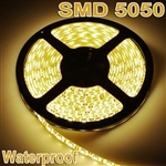 5M Warm White Flexible Waterproof 5050 SMD 300LED 12V LED Strip Light