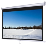 "92"" Ceiling Mounted Retractable Manual Projection Screen"