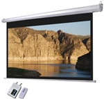 "Retractable Motorized Projection Screen 100"" Wall Mounted"