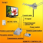 VHF UHF FM HDTV Amplified Digital TV Antenna Built-in Rotor