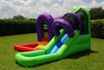 Wet Water Slide Bouncer Bouncy House