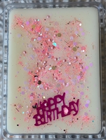 Coconut Crystal Birthday Cake Wax Tart