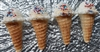 Peppermint Waffle Cone Ice Cream Shaped Tarts