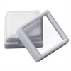 Gem Jars Glass Top Square White (50 Pcs) 1.5 x 1.5 Inches