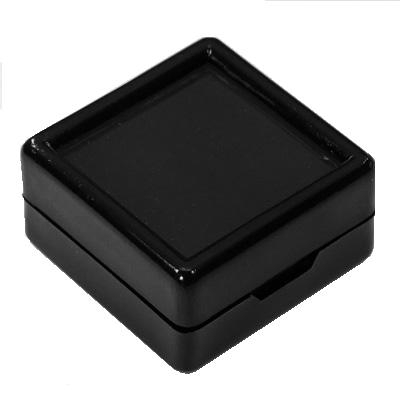 Gem Jars Glass Top Square Black (50 Pcs)  1.5 x 1.5 Inches