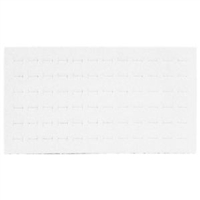 Foam Pad Horizontal White 72 Rings 14 x 7.5 Inches