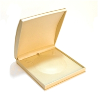 Golden Leatherette Necklace Box