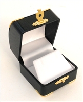 Earring Box Green with Gold Corners/Clasp