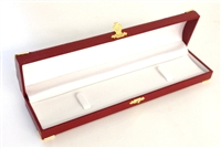 Bracelet Box Red with Gold Corners/Clasp