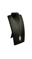 Portable Black Leatherette Necklace Display Stand