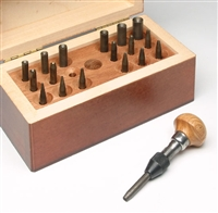 Burnisher Set of 18 in wooden box