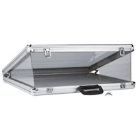 Large Aluminum Display Case 34 x 22 x 3 Inches