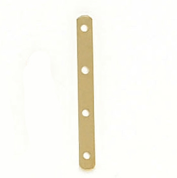 14 Karat Yellow Gold 4-Hole 6mm Spacer