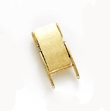 14 Karat Yellow Gold 10mm Foldover Clasp