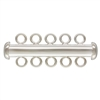 Sterling Silver Tube Clasp 5-Strand