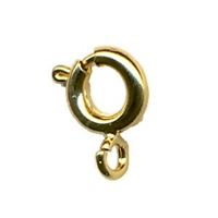 Yellow Gold Filled Spring Ring 6.0mm ( Pack of 10)   14/20