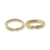 Split Ring Oval 10 KT Yellow per piece