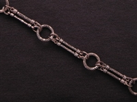 Handmade Chain Antique Copper Colored Double Bars & Rings
