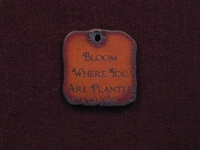 Rusted Iron Bloom Where You Are Planted Inspiration Pendant