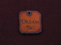 Rusted Iron Dream Big Inspiration Pendant