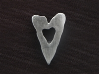 Antique Silver Colored Jagged Heart