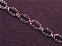 Handmade Chain Antique Copper Colored Etched Oval Links