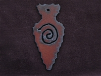 Rusted Iron Arrow Head With Swirl Pendant