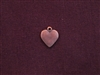 Charm Antique Copper Colored Flat Heart