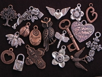 40 Antique Copper Colored Or Silver Colored Charms (Mix & Match) for $60.00