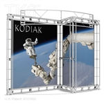 Kodiak 10 X 10 Ft Box Truss Display Booth with Signage Kit