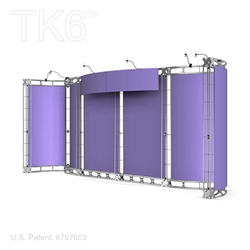 10 X 20 Ft Box Truss Display Booth with Signage